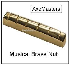 "AxeMasters 1/4"" LEFTY BRASS NUT made for Epiphone Guitar Les Paul SG Dot..."