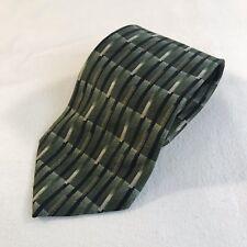 Monterey Bay Multi Color Geometric Silk Mens Neck Tie USA (T2)