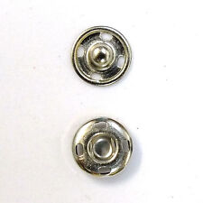 New Sew-On Snaps Fasteners Size:10mm 144 sets package, Color: Silver