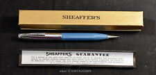 SHEAFFER  Mechanical Pencil in BOX ~ Vintage ~ Excellent! Blue & Chrome