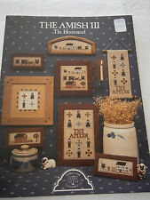 1985 The Amish III The Homestead Cross Stitch Pattern Book Horse Buggy Sampler