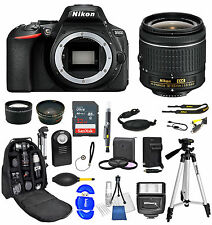 Nikon D5600 DSLR Camera + AF-P 18-55mm  32GB + Backpack Value Bundle