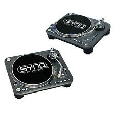 Synq X-TRM1 DJ Plattenspieler Doppelpack Bundle 2 Stück Direct Drive Motor