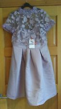 Little Mistress Embroidered  lavender dress   size 14  bnwt