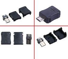 2pz Micro USB Spina Connettore da Assemblare a Saldare Tipo B Maschio a 5 pin 3