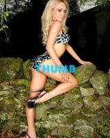 Jorgie Porter - 10x8 inch Photograph #008 in Skimpy Bikini & Heels