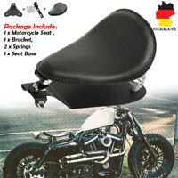 Motorrad 3'' Schwarz Solo Sitz Schwingsattel Sitzfeder Grundplatte Für Harley