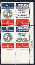 ALLYS STAMPS US Plate Block Scott #1421-2 6c US Servicemen [4] MNH F/VF [STK]