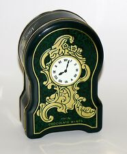 """VINTAGE """"AFTER EIGHT MINTS"""" TIN MANTLE CLOCK SHAPED - EMBOSSED"""