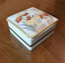 ACTION - SQUARE FLORAL DESIGN JEWELRY CONTAINER - 2 PIECE SET - JAPAN