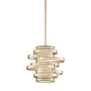 Corbett Vertigo 1 Light Mini Pendant in Modern Silver - 128-41