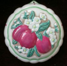 Franklin Mint Le Cordon Bleu Plums Jelly Mould 1986 with Recipe Card