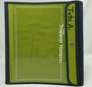 Mead Trapper Keeper Green 3 Ring Binder School Supplies 2008 Used Portfolio