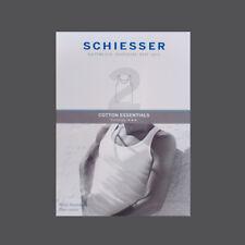 Schiesser 2er Pack Cotton Essentials Feinripp Sportjacke Unterhemd 205144 Gr.5-9