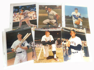 Lot of (15) Vintage 8 x 10 Color Photos Mickey Mantle DiMaggio Ryan Ripken Rose