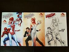 Amazing Spider-Man renew your vows 1 Campbell color B&W Dress variant set NM