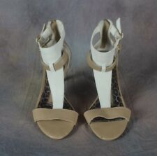 ND New Directions open toe ankle strap heels Tan and beige 6M   (F)