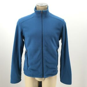 REI Mens Small Full Zip Thermal Fleece Jacket Blue Long Sleeve Zippered Pockets