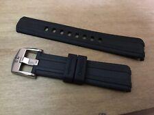 Black Bracelet Strap For Omega Seamaster 300 Watch Include Spring Bars