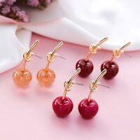 Knot Design Cherry Shape Fashion Jewelry Fruit Earrings Drop Earrings Earring