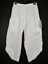 LAGENLOOK 100% LINEN ITALIAN CROPPED TROUSERS 12 COLS  ONE SIZE :REGULAR 10-14