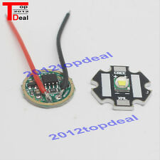 10W Cree XM-L T6 Cool White LED Light + DC 3.7V 2.5A XML LED Dimmer Driver DIY