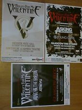 Bullet For My Valentine - Scottish tour concert gig posters x 3