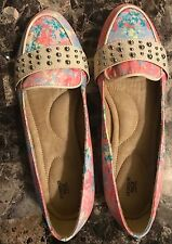 """BRAND NEW """"CUSHION WALK"""" Loafers by Avon - Pastel Colors with Silver Studs-Sz. 9"""