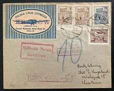 1926 Warsaw Poland Aero Club Pioneer Airmail Cover to Krakow
