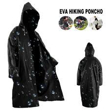 Outdoor Women Men Raincoat Eva Cloth Long Rain Coat Poncho Waterproof With Hat