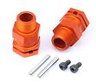 Alloy rear hex hub set orange for 1/5 hpi baja 5b 5t 5sc rovan km car