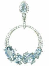 Topaz Blue Cubic Zirconia Fine Necklaces & Pendants