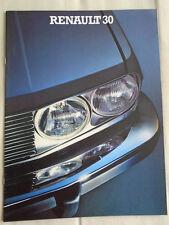 Renault fuego turbo diesel gamme brochure 1983 texte italien