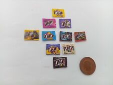 1/12 Scale Assorted M&M Sweet Packs set of 10 for Dollhouse **