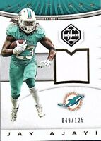 2017 Panini Limited Football Used Jersey Singles (Pick Your Cards)