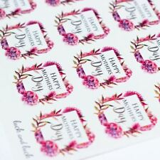 Happy Mothers Day Pink Blossom Single Sticker Sheet With 35 Stickers