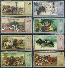 Poland stamps MNH (Mi. 1890-97) Hunting in painting