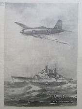 7/1946 PUB BLACKBURN FIREBRAND IV STRIKE AIRCRAFT ROYAL NAVY HMS VANGUARD AD