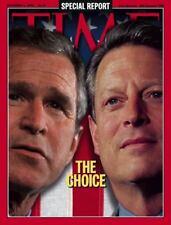 TIME Magazine 2000 NOVEMBER 6 George Bush Al Gore The Choice