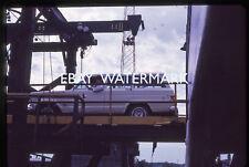 Jeep Wagoneer Getting off Lake Michigan Car Ferry 1971 Kodachrome slide