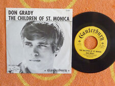 DON GRADY The Children Of St. Monica 45 rpm w/ PICTURE SLEEVE Canterbury 1966