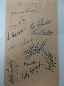 CHELSEA  F.C.  - 1950'S  -  FOOTBALLERS     -  AUTOGRAPHS
