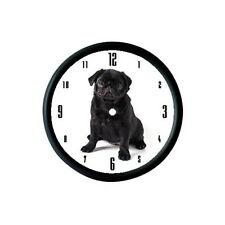 BLACK pug cucciolo Foto Orologio Da Parete-Regalo Amante Degli Animali Pet