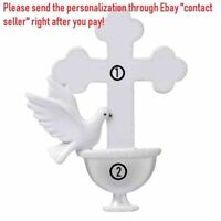 RELIGIOUS CHRISTIAN CHURCH GIRL BOY BAPTISM PERSONALIZED CHRISTMAS TREE ORNAMENT