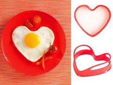 Mastrad Red Heart Silicone Egg Shaper / Pancake Ring - Set of 2