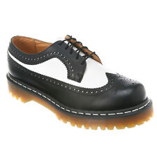 Mens Dr Martens 3989 5 Eye LaceUp Brogue Bex Sole Black & White Smooth 398996019