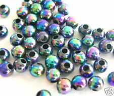 Wholesale1000+ AB IRIS Acrylic Plastic Loose Beads 4mm