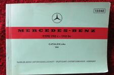 Typ 190c - 190Dc - Original Mercedes Benz - Ersatzteilkatalog Catalog A von 1961