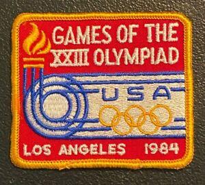 Vintage 1984 Los Angeles Olympic Games Patch / TEAM USA / XXIII Olympiad