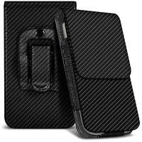 Veritcal Carbon Fibre Belt Pouch Holster Case For BlackBerry Bold 9790
